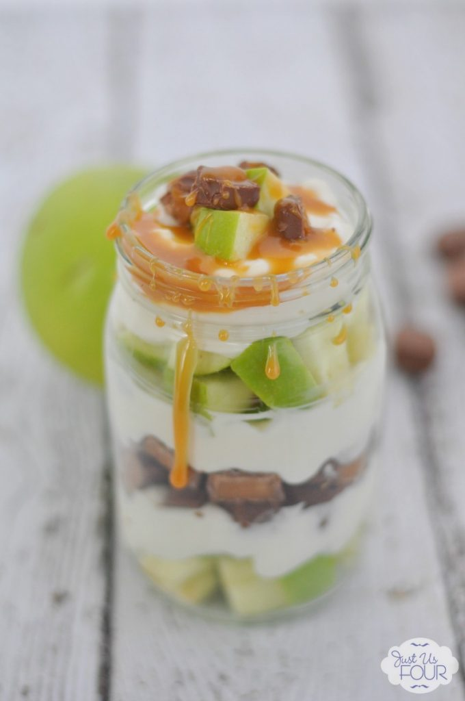 Parfaits are one of my favorite desserts. This caramel apple one is perfect for fall!