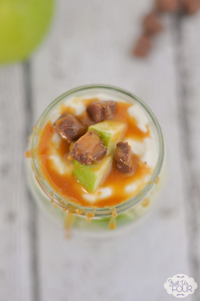 Caramel, apples and milky ways...this parfait has it all! #CreativeBuzz
