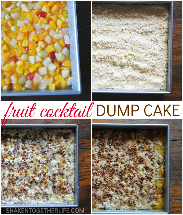 Fruit Cocktail Dump Cake With Cake Mix