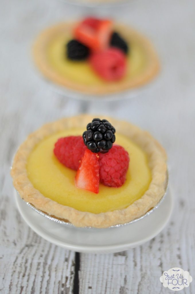 A perfect dessert to close out summer: Ginger Lemon Tartlets with Fresh Berries