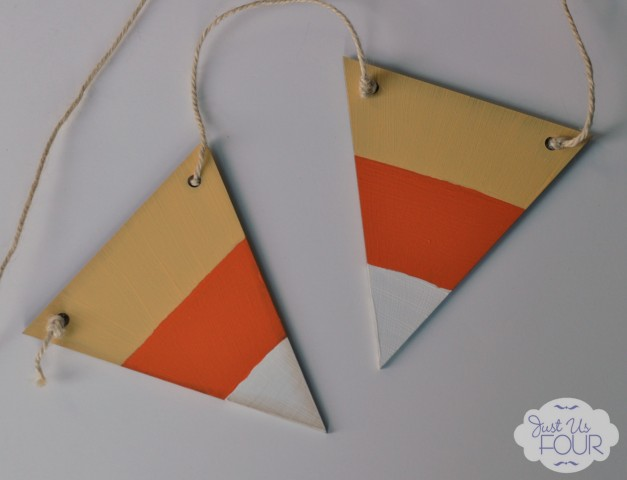 01 - Just Us Four - Candy Corn Pennant Banner