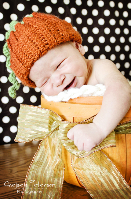 02 - Ashlee Marie - Pumpkin Crochet Hat