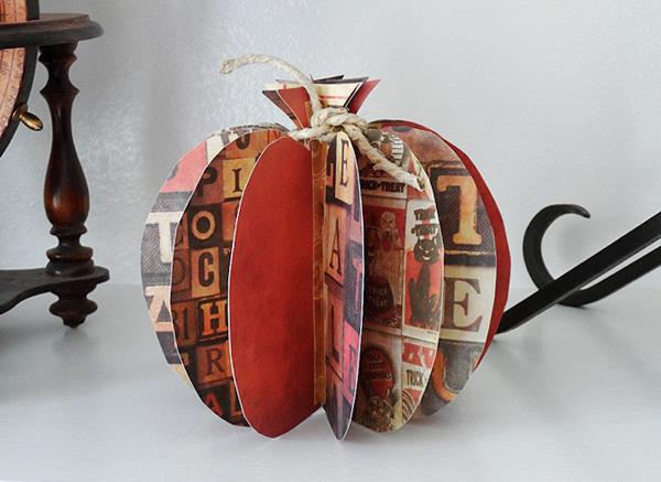 03 - Crafts by Amanda - 3D Paper Pumpkins