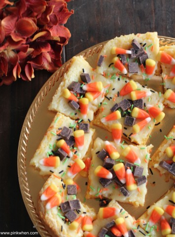 03 - Pink When - Ooey Gooey Candy Corn Cheesecake Bars