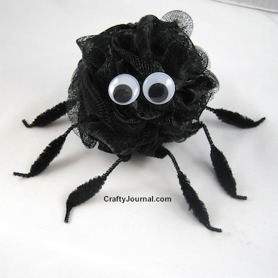 04 - Crafty Journal - Bath Pouf Spider