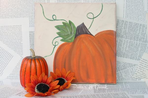 05 - Pitter and Glink - Pumpkin Canvas Art