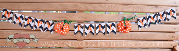06 - Sweet Tea and Saving Grace - Ribbon Pumpkin Pennant Banner