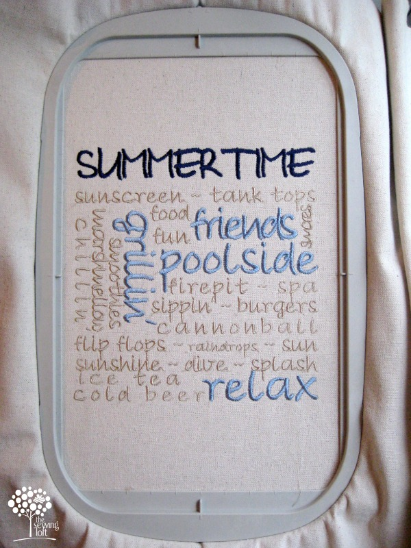 06 - The Sewing Loft - Summertime Embroidery