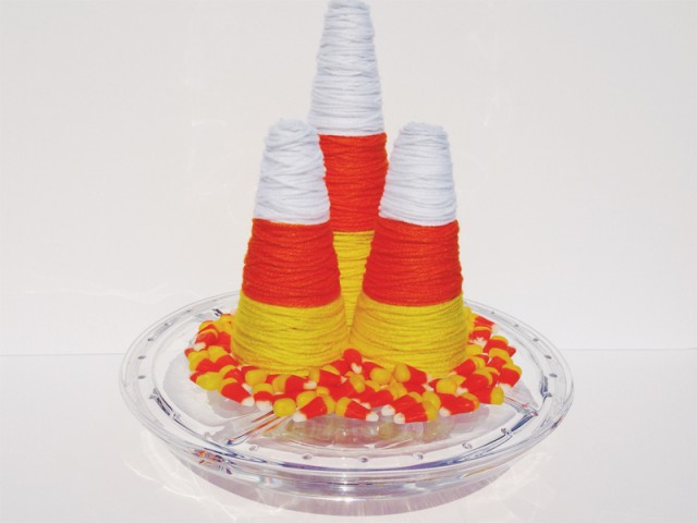 09 - Dawn Nicole - Candy Corn Yarn Cones