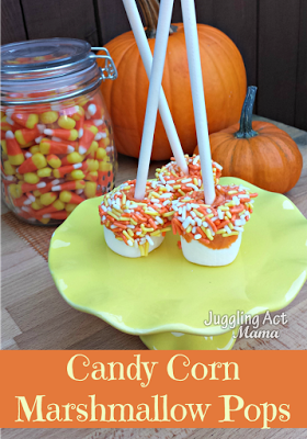 12 - Juggling Act Mama - Pumpkin Dipped Marshmallow Pops