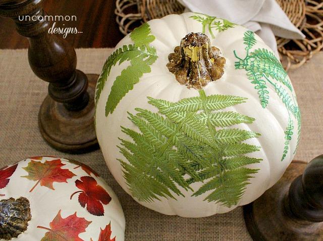 12 - Uncommon Designs - Mod Podge Botanical Pumpkins