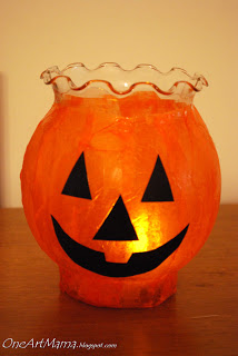 13 - One Artsy Mama - Pumpkin Luminaries