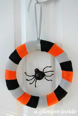 14 - A Glimpse Inside - Spider Web Halloween Wreath