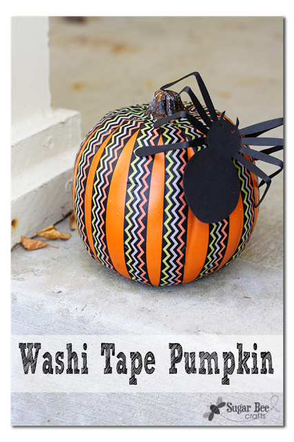 14 - Sugar Bee Crafts - Washi Tape Pumpkin