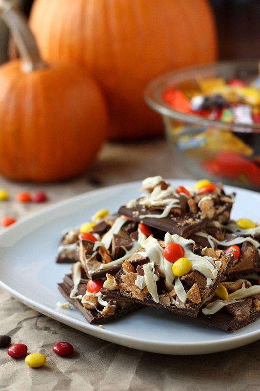 16 - Completely Delicious - Halloween Candy Bark