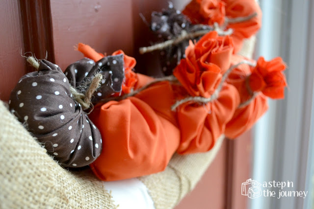 17 - A Step in the Journey - Fabric Pumpkin Wreath