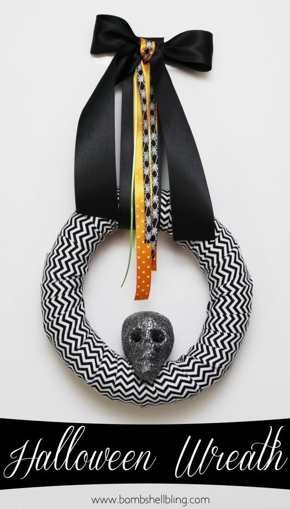 17 - Bombshell Bling - Halloween Skull Wreath