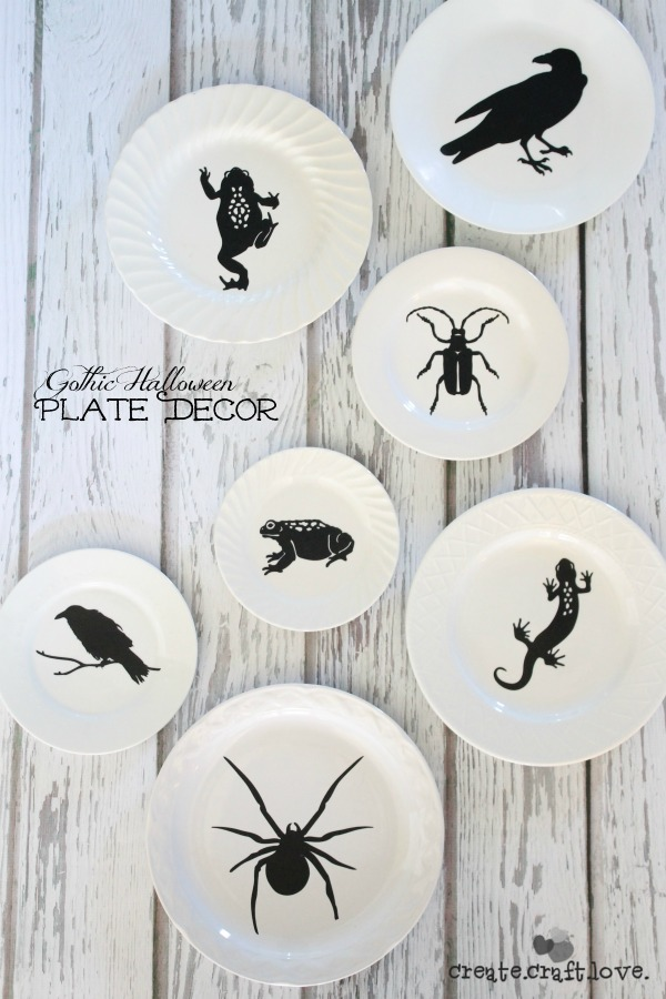 20 - Create Craft Love - Gothic Halloween Plate Decor