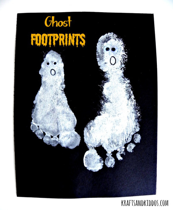 23 - Krafts and Kiddos - Footprint Ghosts