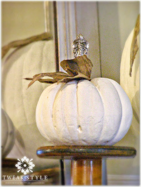 23 - Tweak and Style - Tarnished Silver and Chalk Paint Pumpkins