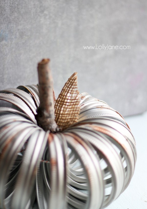 25 - Lolly Jane - Faux Aged Canning Ring Pumpkin