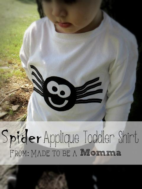 25 - Made to Be a Momma - Spider Applique Toddler Shirt