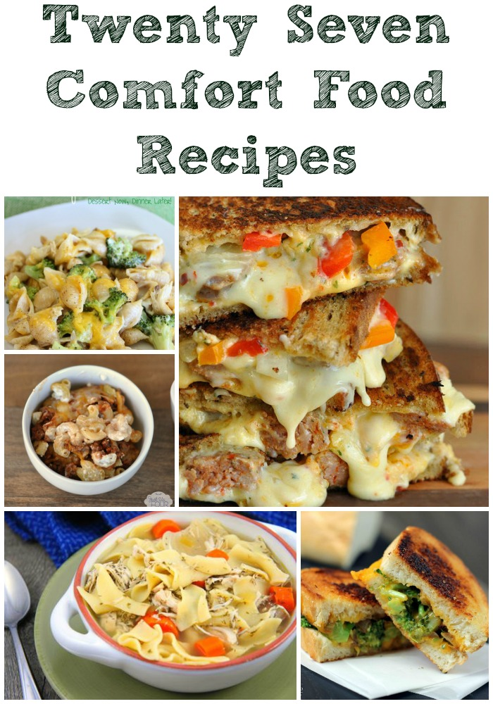 Get ready for the cold temperatures and the yucky illnesses that come along with it by having this collection of 27 comfort foods ready to go!