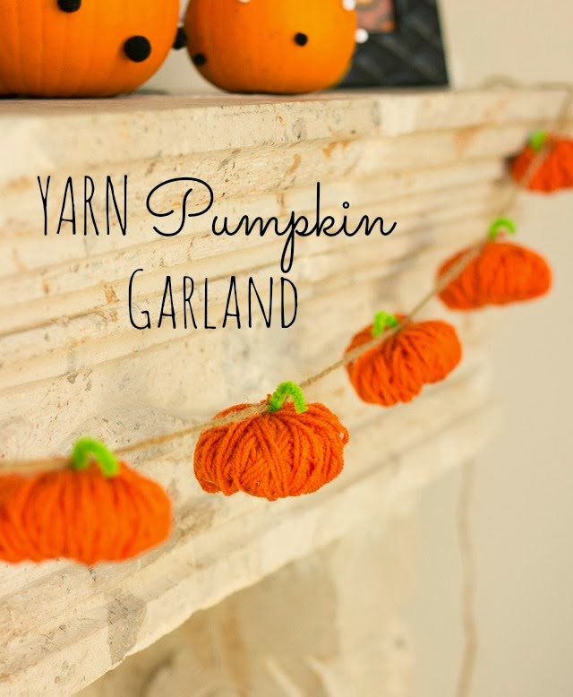 28 - Design Improved - Yarn Pumpkin Garland