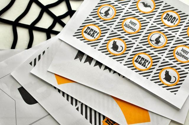 29 - Sugar Bee Crafts - Halloween Party Printables