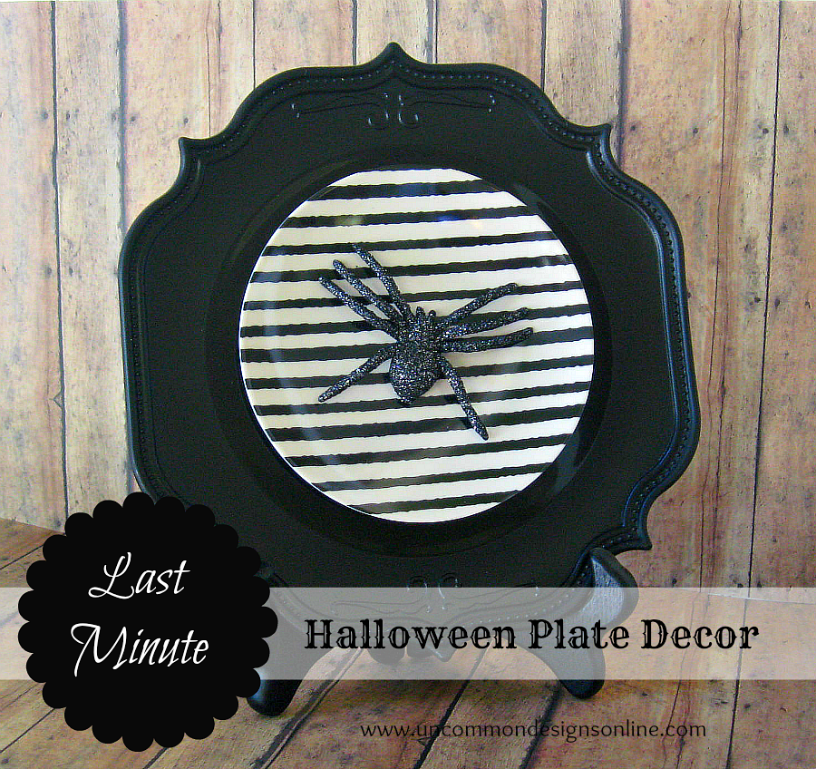 31 - Uncommon Designs - Last Minute Holiday Plate Decor