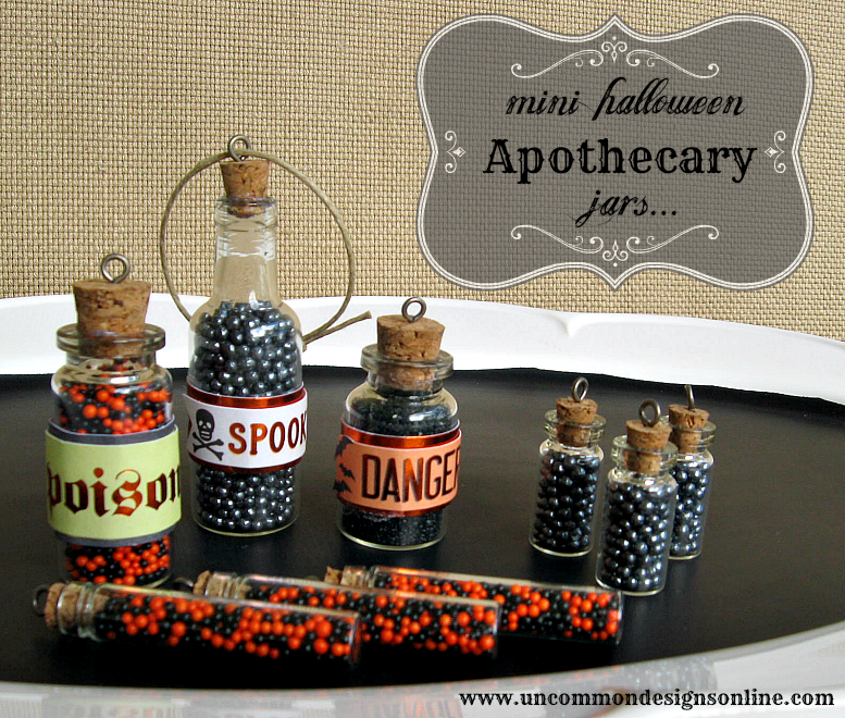 33 - Uncommon Designs - Mini Halloween Apothecary Jars