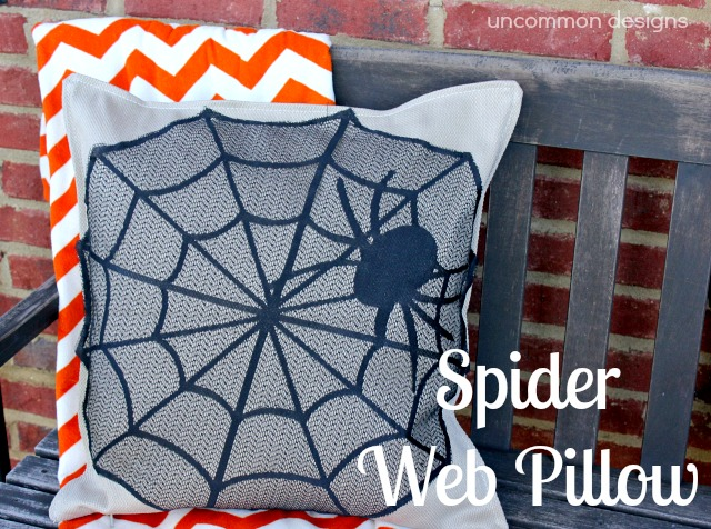34 - Uncommon Designs - No Sew Spider Web Pillow Cover