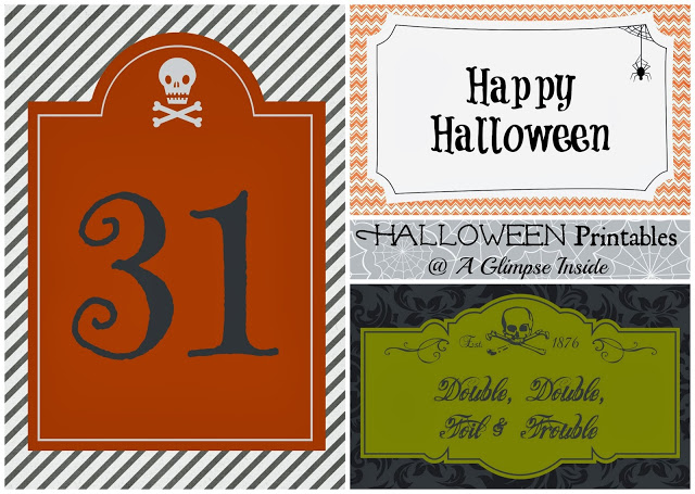 35 - A Glimpse Inside - Halloween Printables