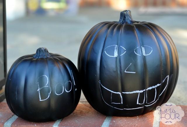 36 - Just Us Four - Chalkboard Paint Pumpkins