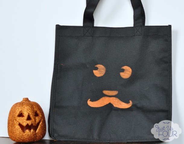 39 - Just Us Four - Stenciled Trick or Treat Bag