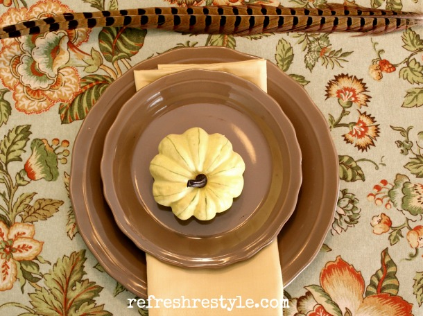 40 - Refresh Restyle - Pumpkin Place Setting