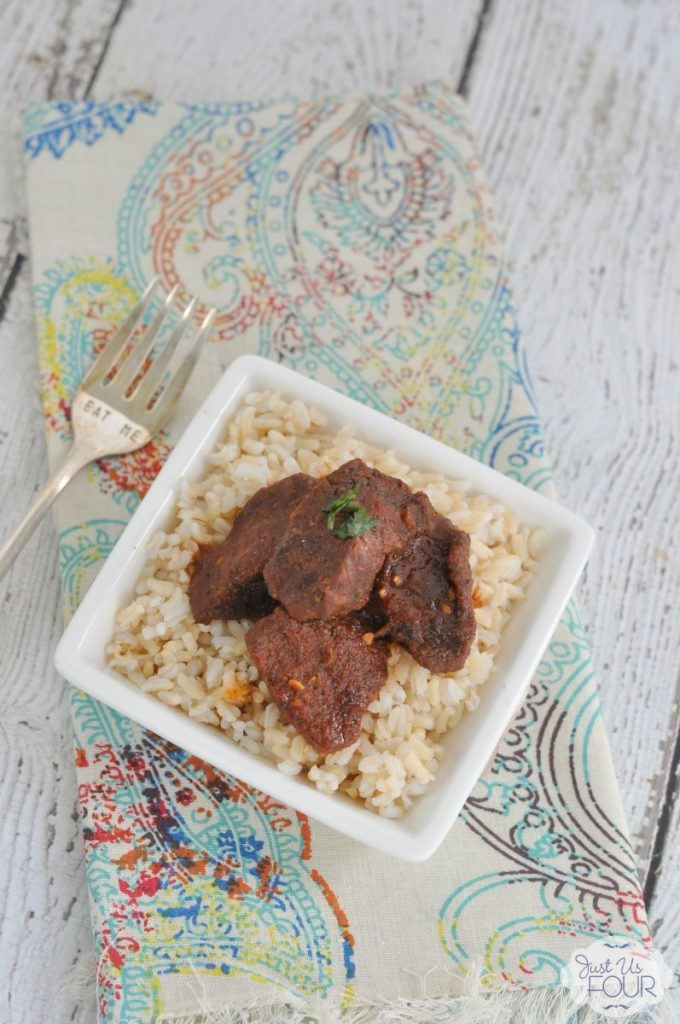 This is the best braised beef I have ever tasted. Plus, it is Paleo if you skip the rice!