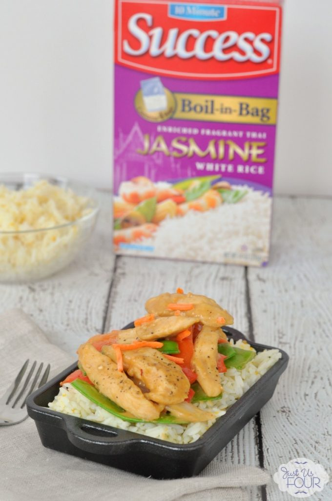 Chicken Satay with Orange Jasmine Rice - The Perfect Weeknight Meal
