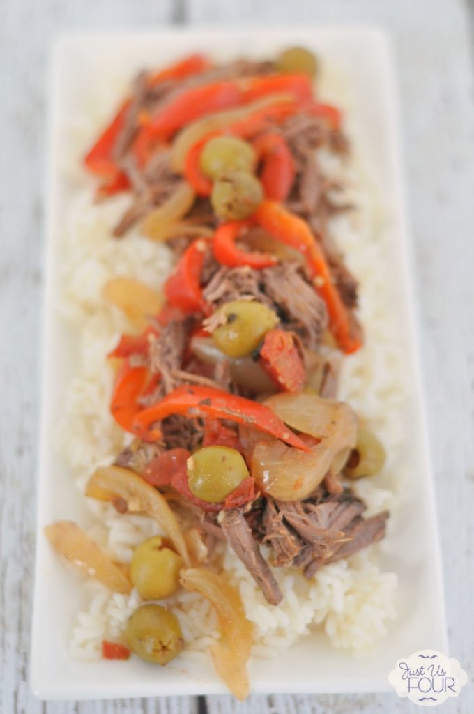 This recipe is perfect for a weeknight or a dinner party! I love all the flavors in slow cooker Cuban beef.