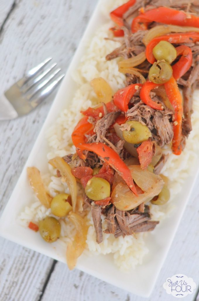 Wow...this recipe is AH-Mazing! Both my husband and my kids ate every bite on their plate and asked for seconds. I will so be making this Crockpot Cuban beef again.