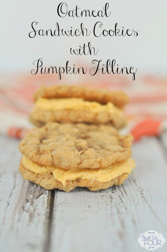 The most amazing oatmeal cookies with pumpkin cream cheese filling.