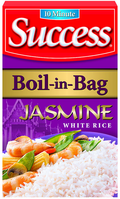 Success® Jasmine Rice is the only boil in bag Jasmine Rice. It is ready in only 10 minutes!