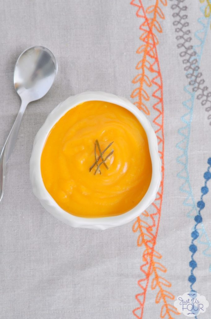 Thai Butternut Squash Soup is the perfect fall soup recipe! Totally vegetarian too!