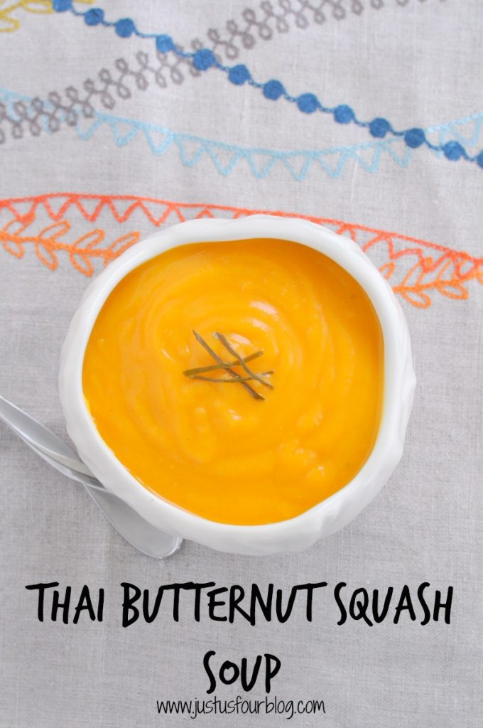 Thai butternut squash soup is my favorite fall soup. It is creamy squash without the usual sweetness.
