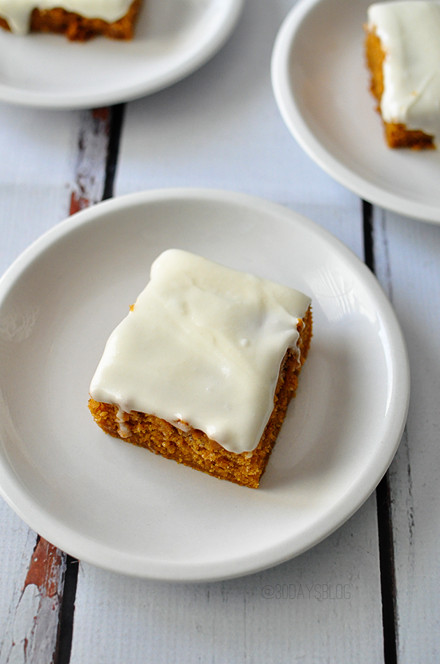16 - Thirty Handmade Days - Frosted Pumpkin Bars