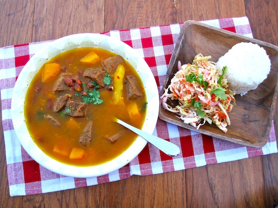 17 - My Colombian Recipes - Red Bean Soup with Beef and Pumpkin