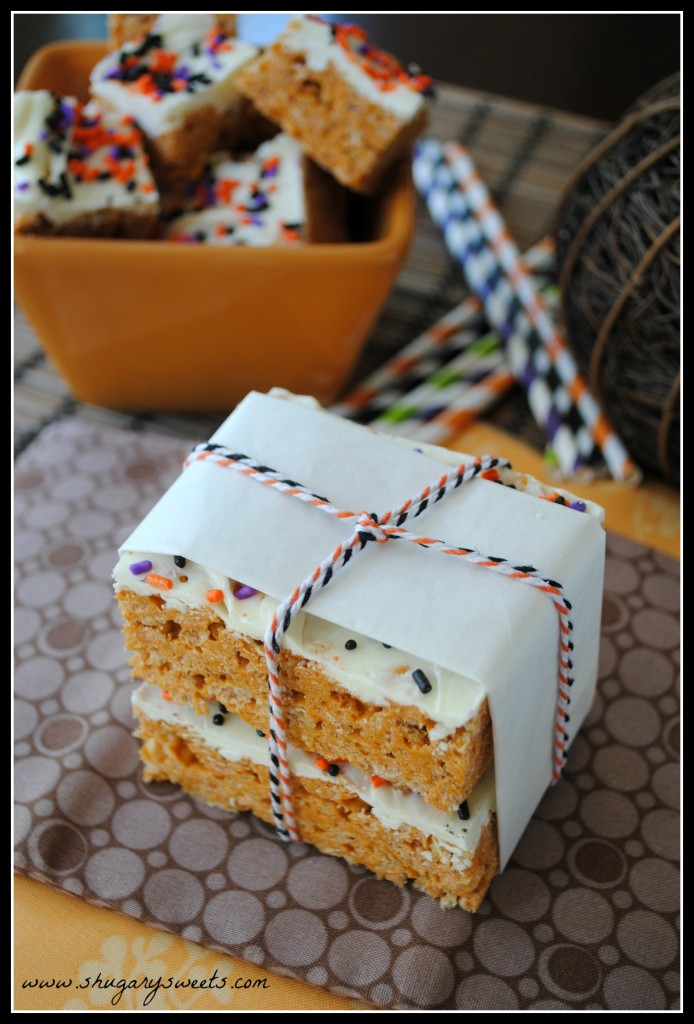 20 - Shugary Sweets - Pumpkin Rice Krispie Treats