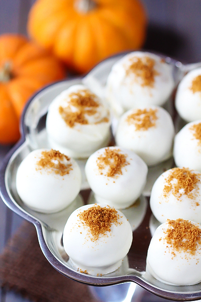 25 - Gimme Some Oven - Pumpkin Cream Cheese Truffles