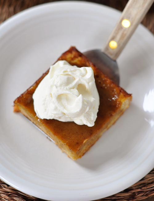 Pumpkin Pie Sheet Cake from Mel's Kitchen Cafe