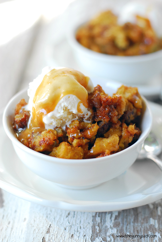 33 - The Gunny Sack - Slow Cooker Pumpkin Pecan Bread Pudding